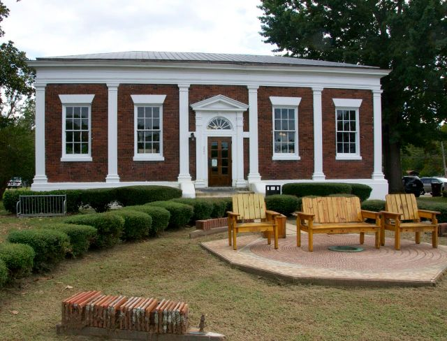 Carnegie Library and labyrynth