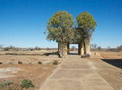Remains of Jermyn, Texas school