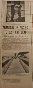 War Memorial Chapel article