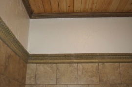 Molding and wall