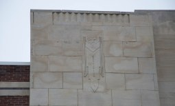 Stylized design on front facade