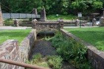 footbridges at dam