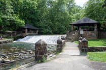 picnic pavilions at dam