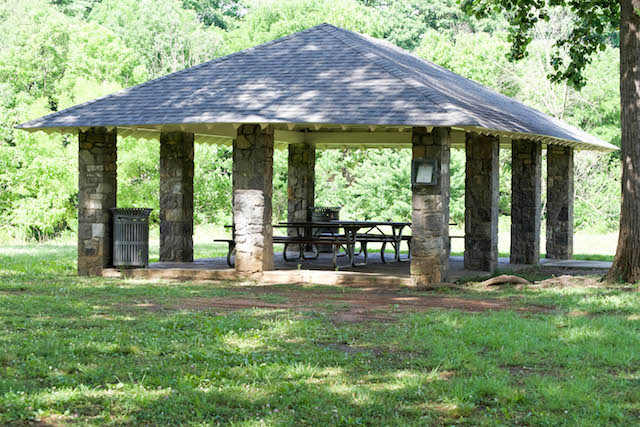 Wasena Park Stone Picnic Shelter