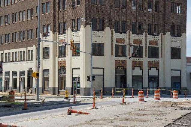 Art Deco detail base of building 2