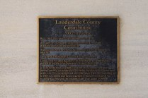Lauderdale County Courthouse plaque