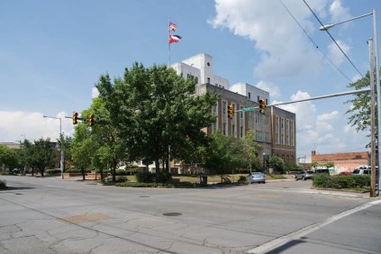 Lauderdale County Courthouse side and front elevation