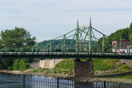 Northampton street bridge from Scott Park