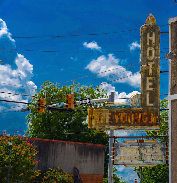 hotel-e-f-young-jr-corner-sign-colorized