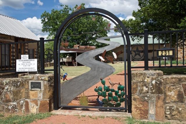 Entrance gate WPA rock wall
