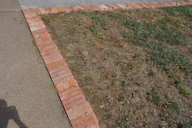 brick border