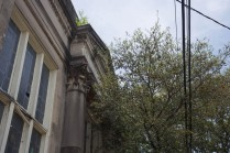 columns and pediment