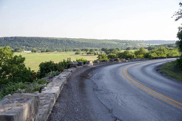 SH 16 guard wall Kimberlin Mountain south