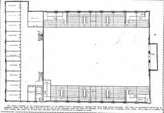 Armory floor plan, 1907, Atlanta Constitution.