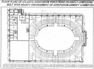 Ground floor plan, 1907 Atlanta Constitution.