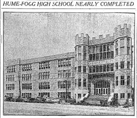 Hume-Fogg on opening. The Tennessean, Sep. 8, 1912.