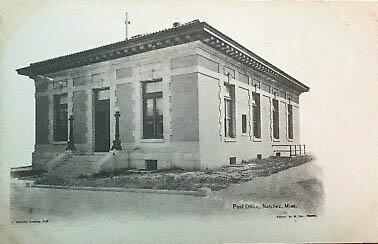 post card of original building