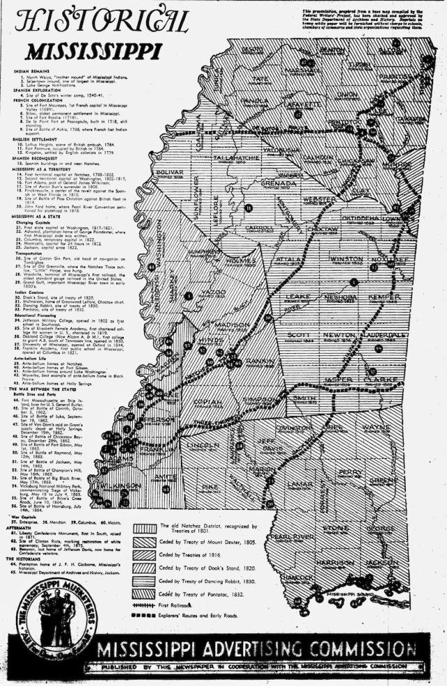 Historica Mississippi map