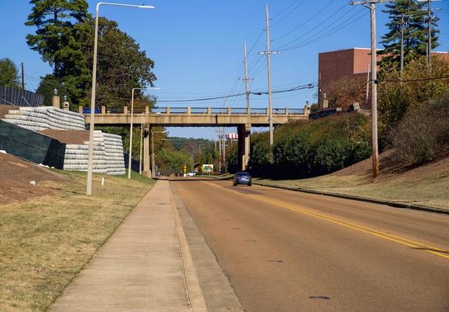 University Avenue overhead bridge at Hilgard Cut