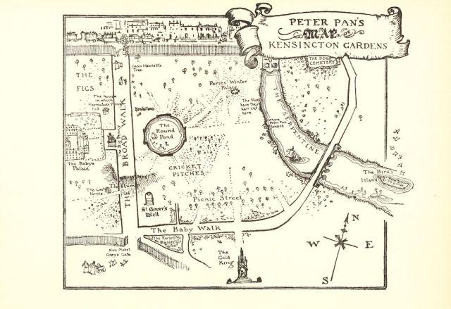 Map of Kensington Gardens