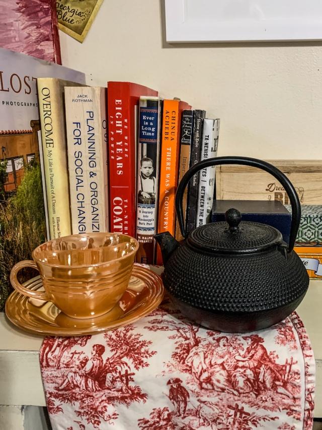 Fire King and tea pot