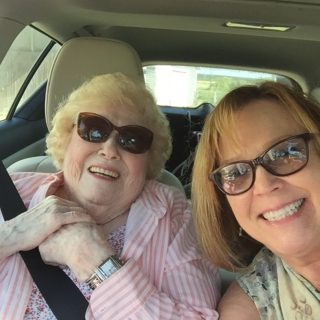 Mom and me on a road trip