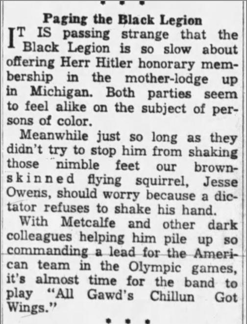 Paging the Black Legion